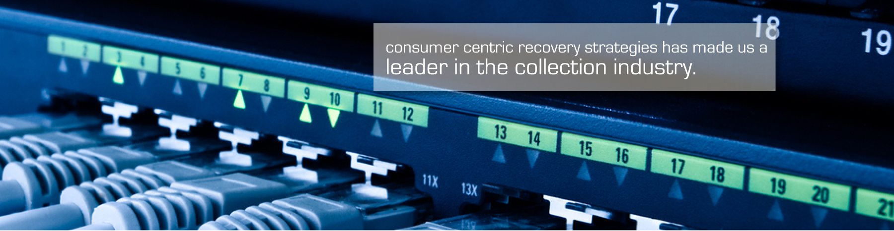 CCB Credit Services consumer-centric recovery strategies has made us a leader in the collection industry.